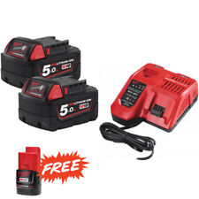 MILWAUKEE | M18 NRG-502 | ENERGY PACK 18V | 2 Batterie 5.0Ah Li-ion + Caricabatt