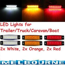 6pc  Rear LED Trailer Tail Lights Caravan Truck Car Ute Indicator Side Marker Br