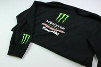 Monster Energy Longsleeve T-shirt Herren Gr. L Schwarz Kawasaki Pro Circuit