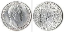 REGNO DI SARDEGNA - CARLO ALBERTO 5 LIRE 1842 - RICONIO