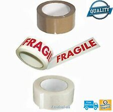 CLEAR BROWN FRAGILE BUFF SELLOTAPE SELLO TAPE 24 36 12 6 48mm 66m packaging post