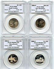 2000 State Quarters, 20-Coins, Silver & Clad Proof, Unc Coins, PCGS MS-66 PR-69