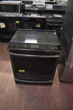 "Ge Profile Phs930Blts 30"" Black Stainless Slide-In Electric Range Nob #26358 Mad"