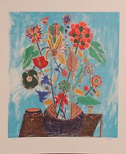 "Limited Edition Lithograph ""Bouquet"", hand signed Ovaida Alkara"
