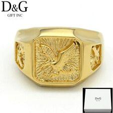 DG Men's Gold Stainless Steel EAGLE Ring Size: 8.9 10 11 12 13**Box