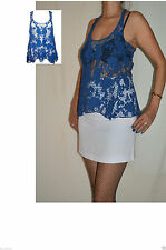 Scoop Neck Formal Floral Sleeveless Tops & Shirts for Women