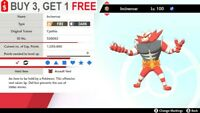 ✨ Shiny Incineroar ✨ Pokemon Sword and Shield Perfect IV🚀Fast Delivery🚀