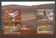 Liberia 2017 MNH Fennec Fox 4v M/S Foxes Wild Animals Stamps