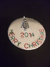 Merry Christmas Tree Silver Aluminum Handmade Ornament Personalize it!