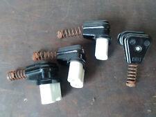 Bakelit Maschinenstecker;abgewinkelt;Bügeleisenstecker;Porzellan - Bakelit