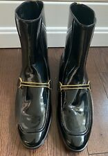 Stella McCartney Black Patent Vegan Leather Booties Size 38.5
