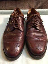 Cole Haan Brown Leather Wing Tip Oxford Dress Shoes Size 10.5 M Made In Italy