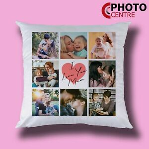 Mother's Day Personalised 8 Photo Collage Cushion - With or Without Filling