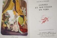 CONTES ET NOUVELLES EN VERS JEAN DE LA FONTAINE ILLUSTRE BRET KOCH 1945