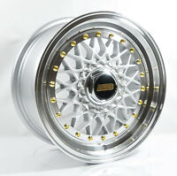 4pcs BBS RS 15inch 7J 4X100 4X114.3 Alloy wheel Cheap rims SILVER RS1-1