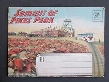 Vtg. Postcard Folder SUMMIT OF PIKES PEAK Mountain Railroad Colorado