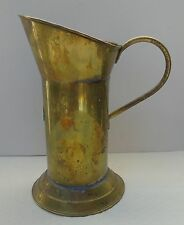 "Vintage Metalware Brass Measure Pitcher w/ Handle 10 5/8"" tall"