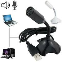 USB Stand Mini Desktop Microphone Mic Support For PC Laptop MacBook Notebook