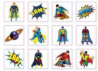 Temporary Super Hero Superhero Tattoos Children Kids Party Pinnata Fillers Toys
