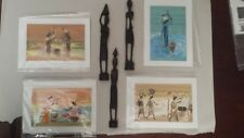 Original African Art - South African Carvings and Paintings by Senegalese Artist