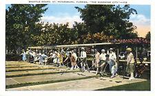 Shuffle Board  St Petersburg Florida Teich 1920s Postcard