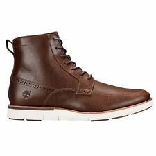 MEN'S TIMBERLAND* PRESTON HILLS* SIDE ZIP BOOTS COLOR~BROWN SIZE 11.5 M