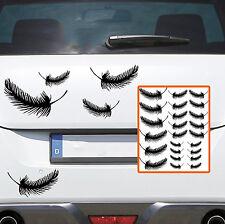 Auto Motorrad Aufkleber FEDERN SET Feder 13 Stück Fenster Sticker feather 371