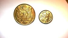 """Vintage Hollow Metal American Great Seal Button """"Handy Button Ma""""&Rubens CHICAGO"""