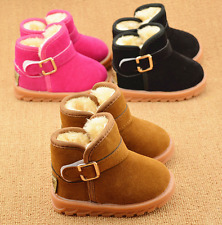 Child Toddler Winter Warm Faux Fur Shoes Baby Kids Boys Girls Snow Ankle Boots