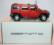 NIB Hummer H2 Scale 1/27 Maisto Die-cast car Burnt/Orange-Black Trim