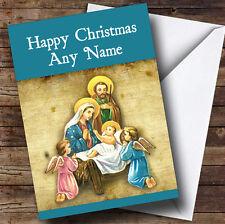 Niño Jesus Navidad tarjeta de saludos personalizadas