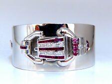Estate Paul DitiSheim Natural Ruby Diamonds Bangle Watch Bracelet 14 Karat