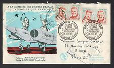 LE BOURGET (93) AVION & PILOTES D'ESSAI Goujon & Rozanoff / PREMIER JOUR 1959