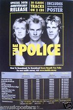 """Police """"30Th Anniversary"""" Promo Poster From Malaysia - Sting, Andy & Stewart"""