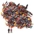 500pcs Colorful Painted Model Street Scenes People Figures OO Scale 1:100