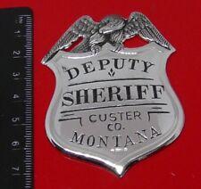 More details for solid sterling silver franklin 1987 police badge montana deputy sheriff 21.8g