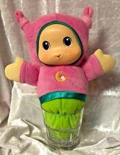 Musical Lullaby Glow Worm Plush Light Up Toy Playskool Pink Green Hasbro-b