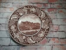 Royal Fenton Staffordshire England Biltmore House Asheville Al Brown/White plate