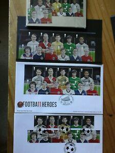 2013 FOOTBALL HEROES PACKAGE PHQ376 FDI REAR SHS + FULLSET MNH + 2 x FDC SPL H/S