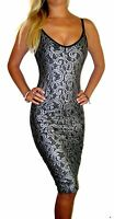 Womens Ladies Evening Party Cocktail Midi Sexy Lace Dress Size 8 10 12 14 16 18