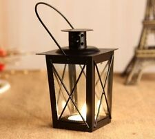 Classic Metal Candle Holder Home Garden Hanging Retro Lantern Glass Fresh Decors