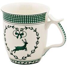 Hirsch weiß mit grün Jumbobecher Jumbotasse Kaffeebecher 0,5 L