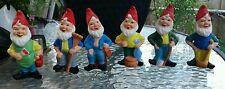 Our Own Import  Ceramic Elves Gnomes Set of 6 - Estate Item