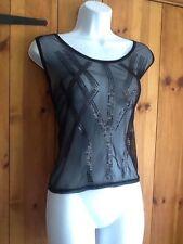 Geometric Viscose Stretch Sleeveless Tops & Shirts for Women