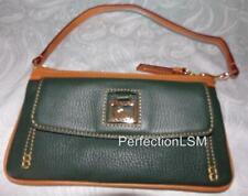 NWT Dooney & Bourke Dillen II Pebbled Leather Pocket Wristlet in Ivy Green-Rare!