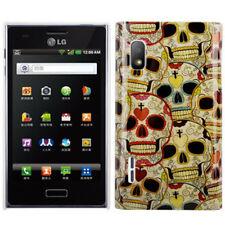 HardCase Backcover für LG E610 Optimus L5 Totenköpfe bunt Schutzhülle Cover