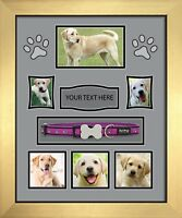 PERSONALISED PHOTO frame PET,CAT,DOG MEMORY BEREAVEMENT REMEMBRANCE Grey Mount