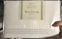 Downright Windsor Triple Line Duvet Cover Set Twin Sham White Hotel New