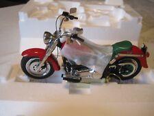 FRANKLIN MINT HARLEY DAVIDSON 2000 CHRISTMAS EDITION FAT BOY MOTORCYCLE