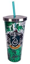 Harry Potter Slytherin Green Glitter 20 oz Acrylic Double Walled Tumbler Cup